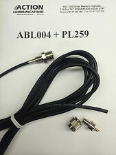 ABL004 Antenna base lead plug PL259 suits AE4703 AE4704 AE4705 AE4706 AE47XX