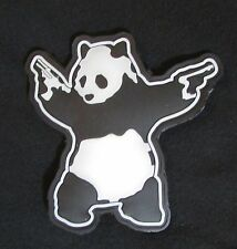 3D PVC PANDA WITH GUNS SHOOTING PANDA SWAT GLOW VELCRO® BRAND FASTENER PATCH