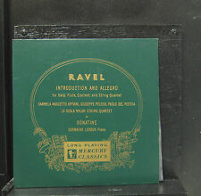 "Carmela Appiani - Ravel Introduction Allegro 10"" LP VG+ Mono 1st 1950 Record"