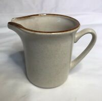 Yamaka Japan Stoneware Creamer Cream Pitcher Brown glaze rim