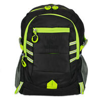Hi Vis RUCKSACK BACKPACK WORK BAG TOOL HIKING WALKING SPORTS Waterproof BLACK