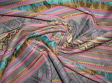 """Exotische """"Cancun"""" Jacquard Mischgewebe mit Streifen in Ethnic-Optik Mehrfarbig"""