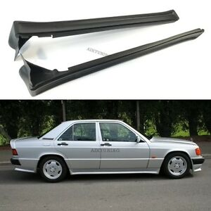 Side Skirts Aprons Trims Addon Set Panels (Fits Mercedes Benz W201 190 AMG)
