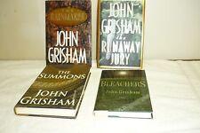 SET  OF 4  JOHN  GRISHAM  LOT  OF  HARDCOVER  BOOKS  W/DUST  COVERS