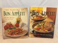 "2 BOOKS ""THE FLAVORS OF BON APPETIT"" COOKBOOKS/RECIPES-1996 & 2002-HARDCOVER"
