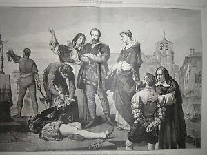 1874 Harper's Settimanale Giugno 20 Spagnolo Patriots Eseguito Durante Charles V