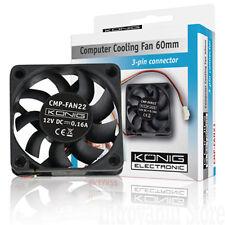 Ventola di raffreddamento dissipatore per PC 60X60X15 12 Volt 140mA 4500 RPM