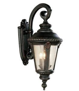 Trans Globe Three Light Wall Lantern Rust 5044 RT - Missing One Glass Panel