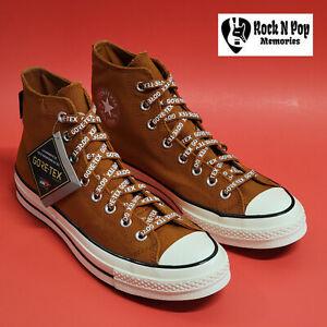 Converse Mens Chuck 70 Hi Gore-Tex 168858C Amber Sepia/Egret/Black Size 8.5 NWB
