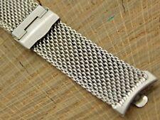 """Kreisler NOS Unused Stainless Steel Mesh Vintage 19mm/3/4"""" Watch Band 7"""" Long"""
