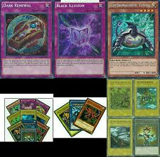 Dark Renewal + Egyptian God Cards Slifer, Obelisk, Ra +4 Tokens YuGiOh SET YGLD