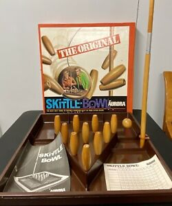 Vintage 1970 The Original SKITTLE BOWL Game by Aurora Complete with Box