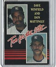 1985 Donruss Two For the Title Don Mattingly/Dave Winfield (Yankees) #651