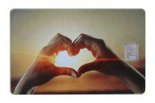 Geschenkkarte Motivkarte Silberbarren 999er Silber 1g Gramm Liebe Love Hände  ..