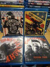 Sons Of Anarchy Season 1-4 Blu Ray US Import Region FREE
