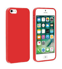 SDTEK Matte Case for iPhone SE / 5 / 5s (Red) Soft Cover