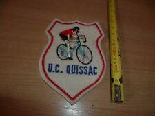 (E35) ECUSSON TISSU A COUDRE   UNION CYCLISTE  QUISSAC