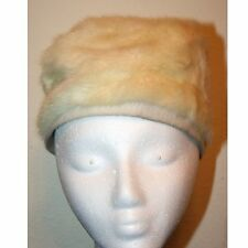 Ladies Vintage, Cream, Fur, Pill Box Style Hat from Macy's Little Shop