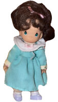 Precious Moments, 2000, Brown Haired Girl with dress figure figurine doll Toy 6""