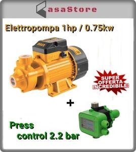 Elettropompa autoclave autoadescante 1hp/0.75kw + press control 2.2 bar