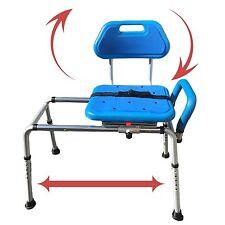Gateway Premium Sliding Bath Transfer Bench with Swivel Seat-PADDED