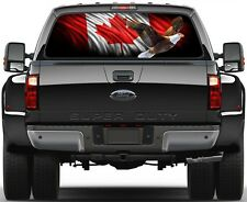Canadian Flag Eagle Version 2 Rear Window Graphic Decal Truck SUV