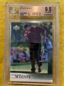 2001 Upper Deck Tiger Woods #1 Golf Card BGS 9.5 GEM MINT W/10 & 2 9.5 subgrades