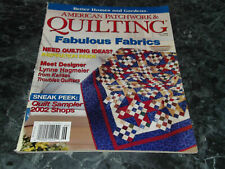American Patchwork & Quilting Magazine June 2002 Issue 56 Cross my Heart