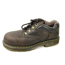 Dr Marten's Industrial Air Wair Mens Steel Toe Oxford Brown Leather Size 11 M