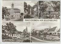 Ansichtskarte Bad Düben - Markt/Rathaus/Kulturhaus/Platz der Jugend/Eisenmoorbad