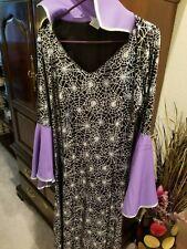 Halloween Dream Weavers Witch Women Purple/Black/Silver Dress Sz Xl
