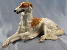 Seltener großer porzellan Barsoi Windhund Figur hund dog borzoi Diller