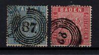 G128710 / GERMAN OLD STATES / BADEN / MI # 10 - 11 USED CV 160 $