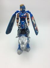 "Vintage 1995 Z'Neth & Riptor 8.5"" Galoob Blue Action Figure Dragon Flyz Uc1"