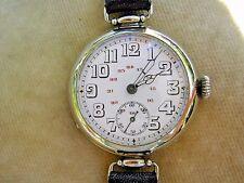 Reloj de trinchera oficial de WW1 con Dial rara de 24 horas & Articulado Lugs, Reparado