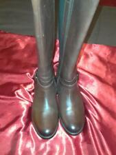 Women's Brown Leather Clark Boots Size 9.5 W US Plaza Pilot