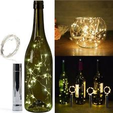 20 LED White Bright Bottle Light Kit Fairy Light Battery Wedding Party Birthday
