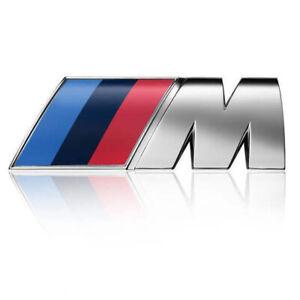 FOR FIT BMW ///M-SPORT EMBLEM LOGO BADGE M-TECH Chrome Universal 51148058881