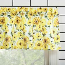 Yellow Farmhouse Country Sunflower VALANCE Kitchen Curtain Flower