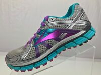 Brooks GTS 17 Running Shoes - Gray Lace Up PDRS Training Sneakers Women's Sz 9