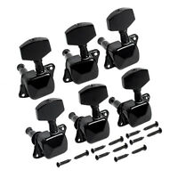 Guitar Tuning Pegs Machine Heads Tuners Keys for Electric Guitar Parts 6L Black