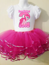 My Little Pony Party Dress Birthday NUMBER 2pc tutuset Pink  1T,2T,3,4,5,6,7,8,9