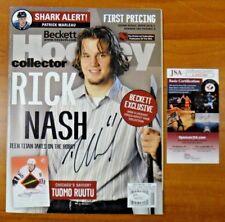 Rick Nash Signed Hockey Beckett Magazine 2004 with Jsa Coa