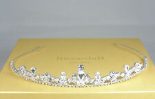 Tiara Bridal Crown Wedding Swarovski Crystals Silver Plated made in Italy Tiaras