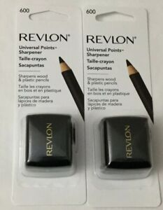 NEW Revlon 2-PACK Universal Points Sharpener Sharpens Wood Or Plastic (G16-7)