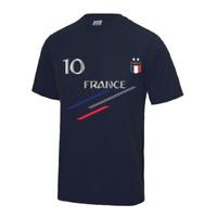 Tee shirt foot France 2 étoiles enfant bleu marine Taille de 3 à 13 ans