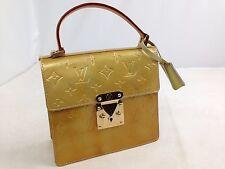 Authentic LOUIS VUITTON Spring Street bronze Vernis Hand Bag Purse 5J210Y90