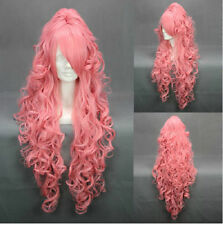 Hot Popular VOCALOI D-Megurine Luka Anime On Ponytail Copslay Lady Full Hair Wig
