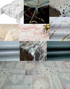 PLAIN PRINTED MARBLE GRANITE STONE EFFECT PVC OIL VINYL PLASTIC TABLE CLOTHS