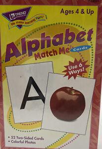 MATCH ME CARDS ALPHABET 52/BOX